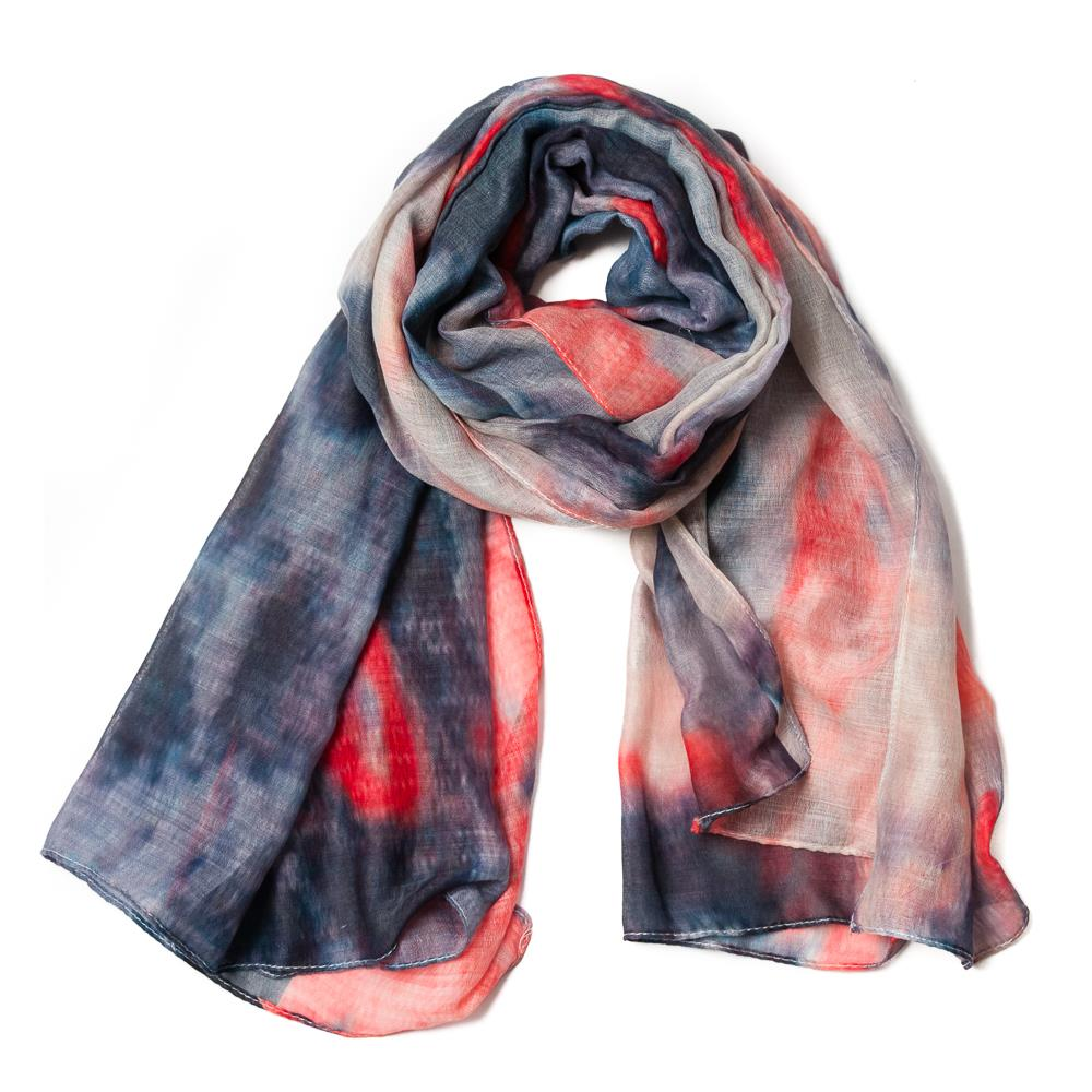 Scarf, multipattern light pink