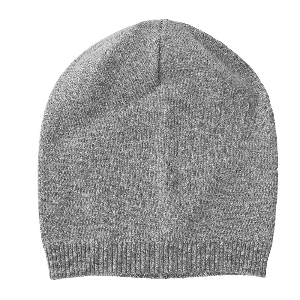 Hat, knitted wool with lurex grey