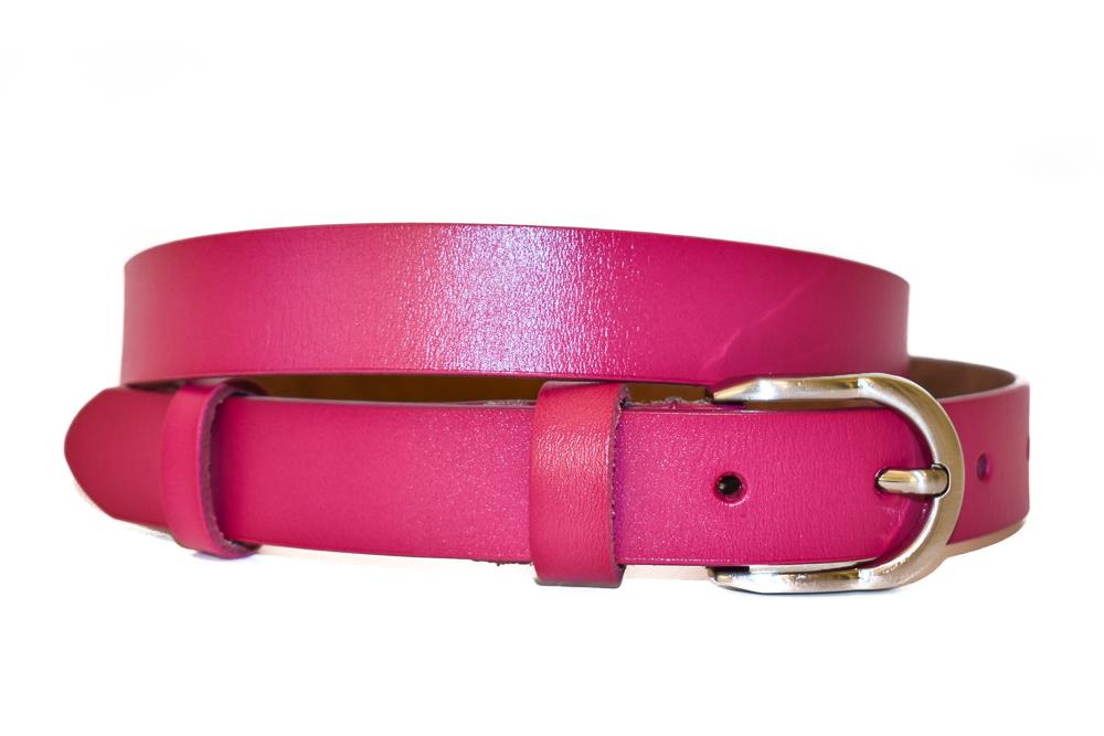 Belte PU/skinn small bright colors pink