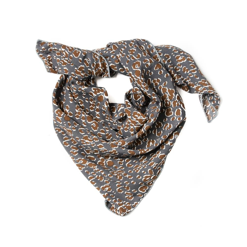 Scarf, small animal pattern blue