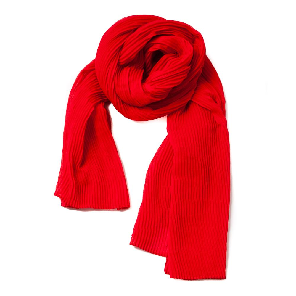 Scarf, exclusive plizze red