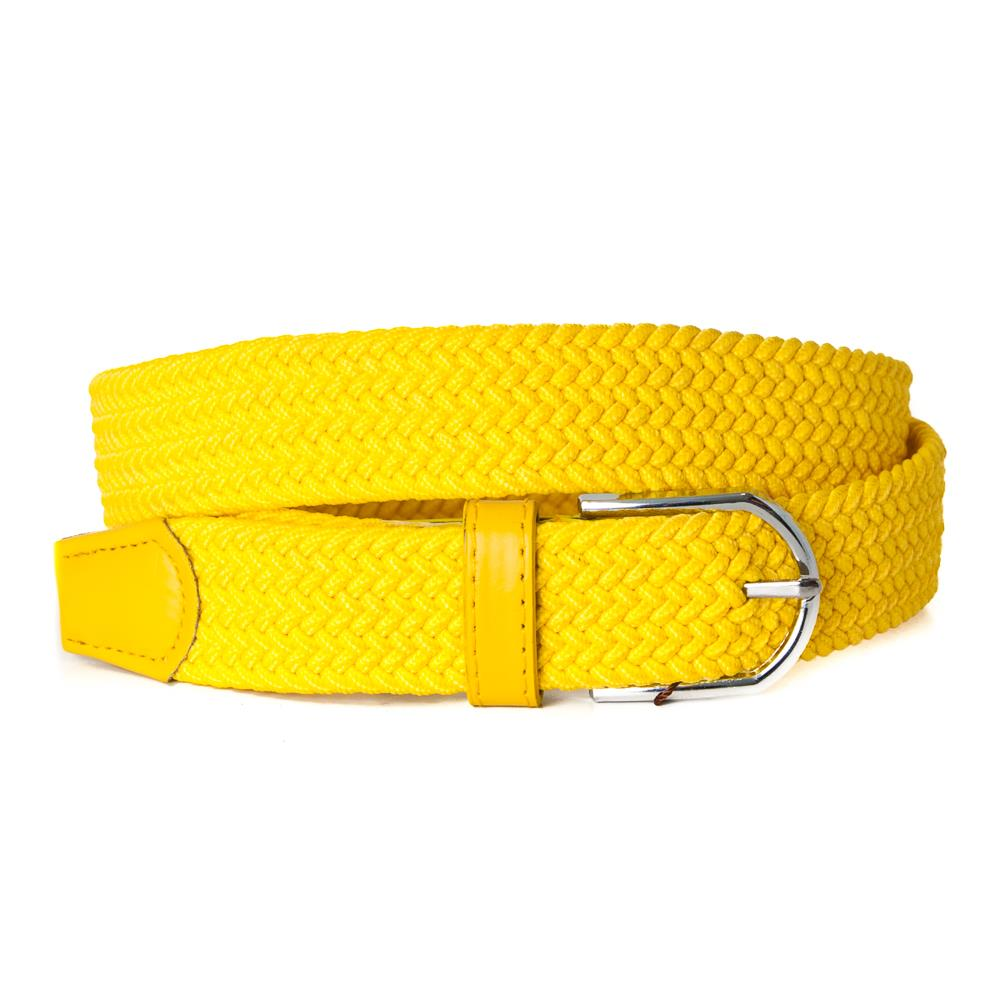Belt, elastic braided yellow