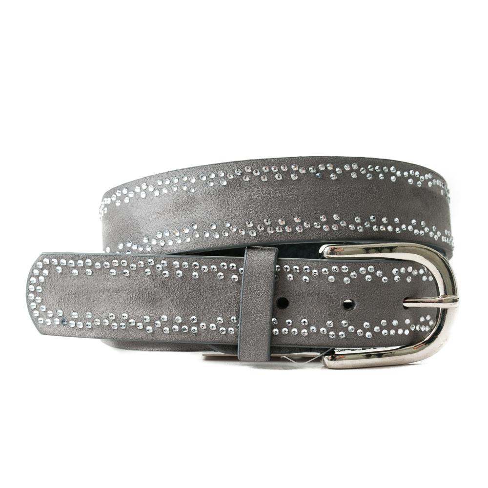 Belt, with trippel colored rivets grey