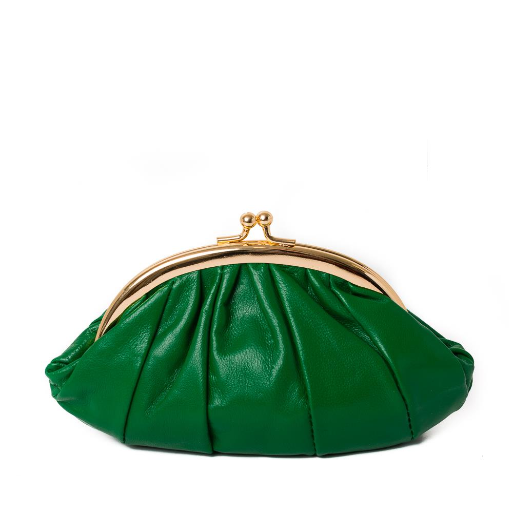 Bag, leather purse green