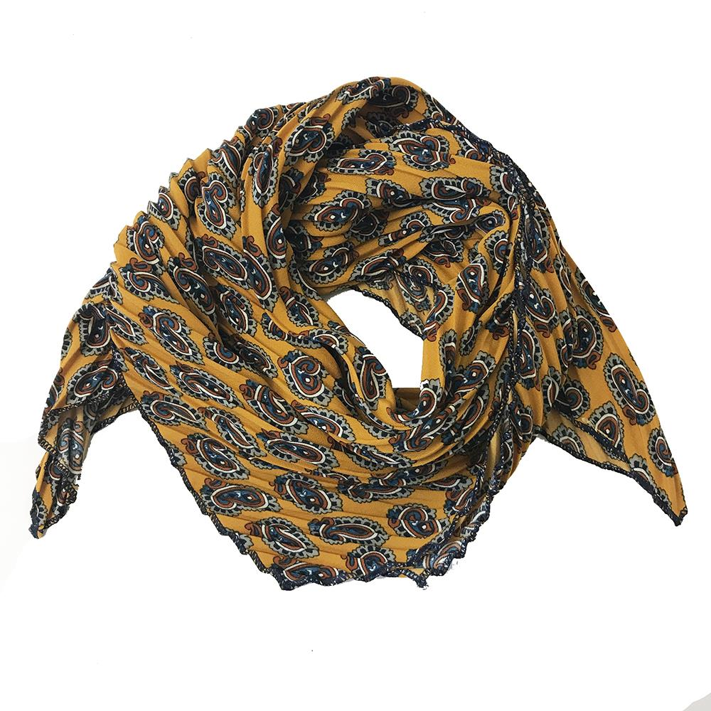 Scarf, small plizze with paisley