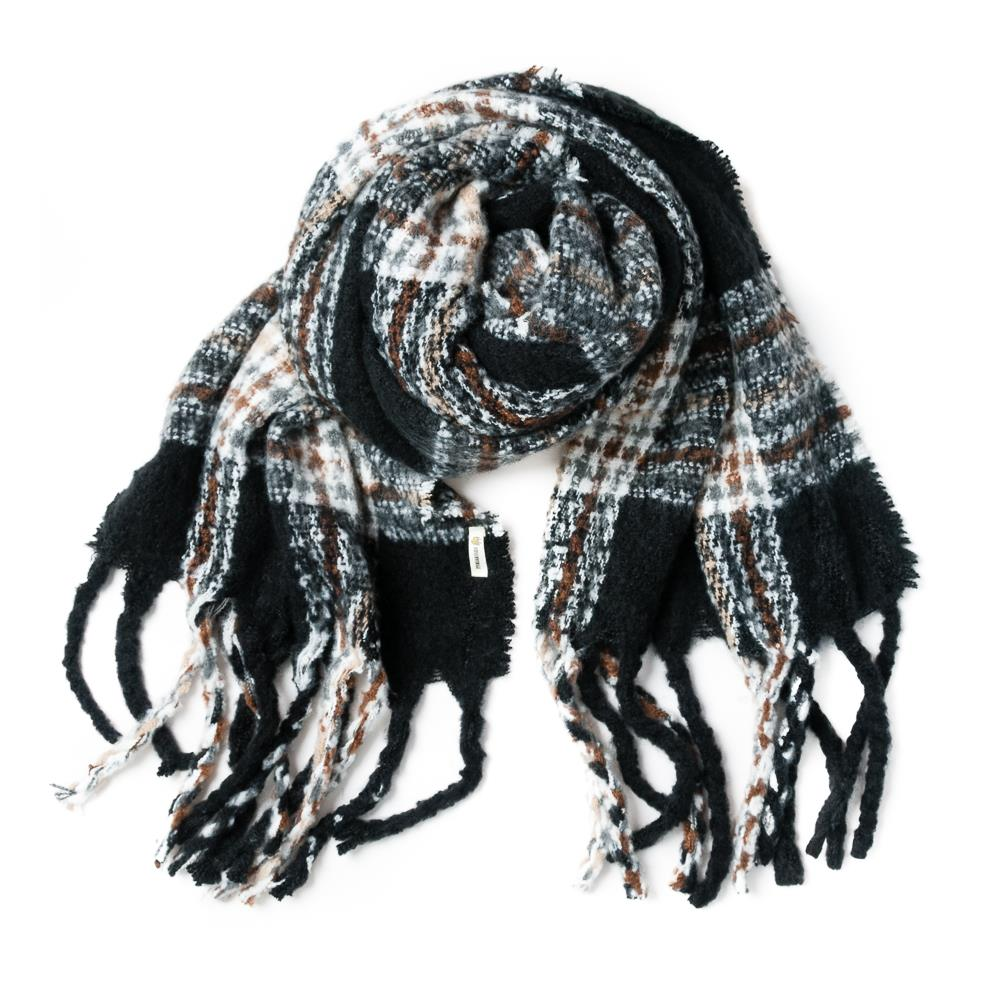 Scarf, fluffy burberry black
