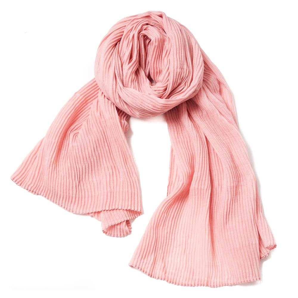 Scarf, exclusive plizze dusty pink