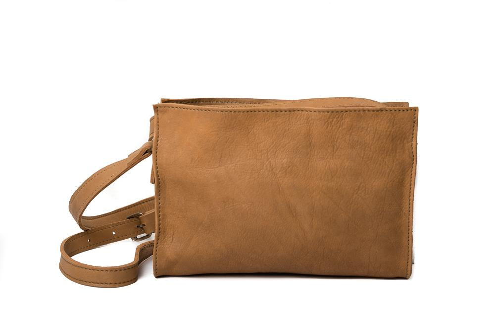 Bag, clutch crossover beige