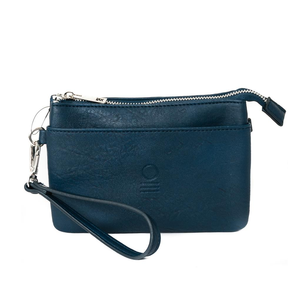 Bag, zipper pocket purse navy