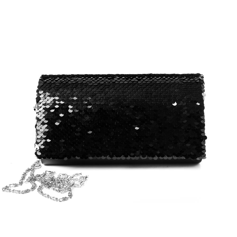 Bag, Partybag big sequinces black
