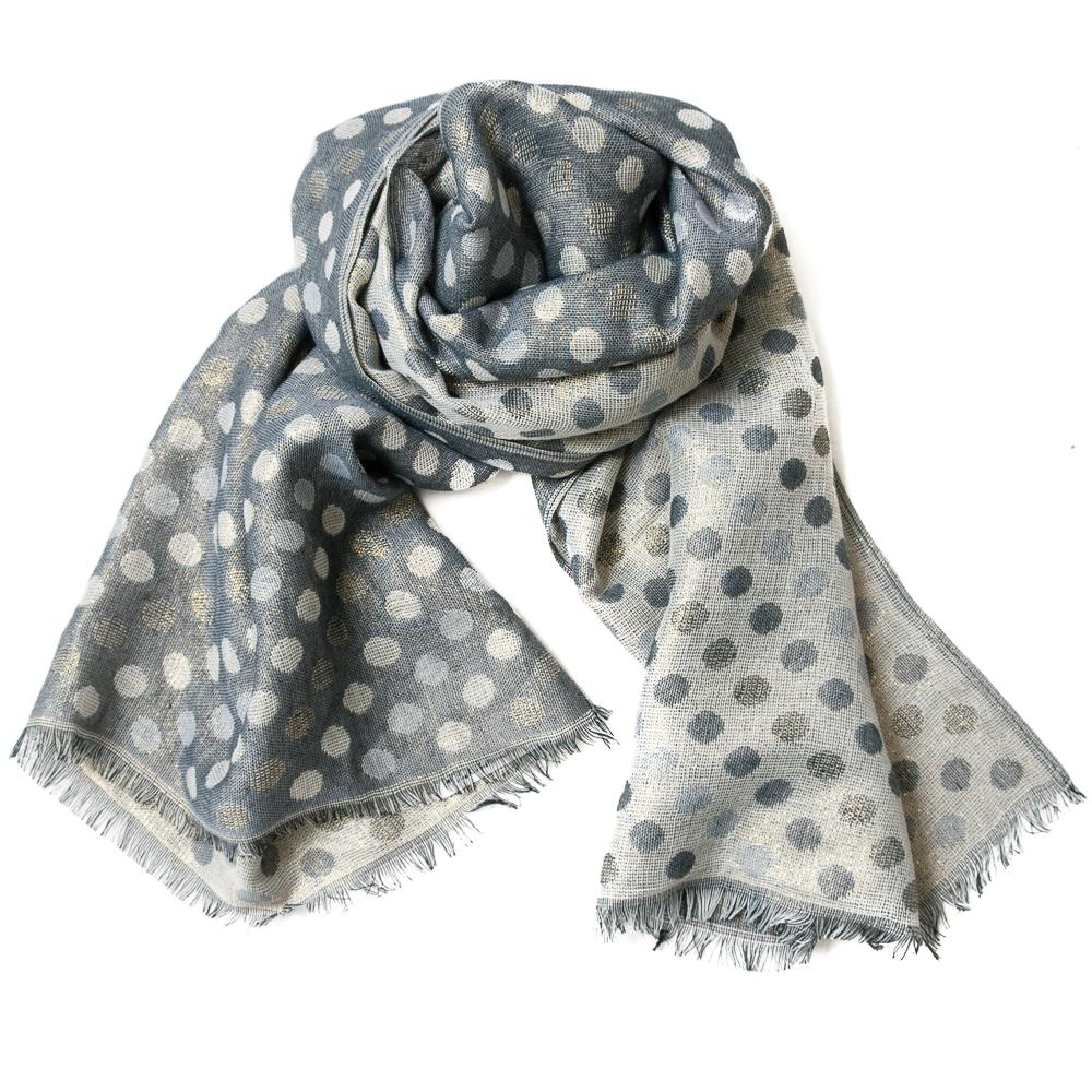 Scarf, jaqardwoven scarf with lurex dots