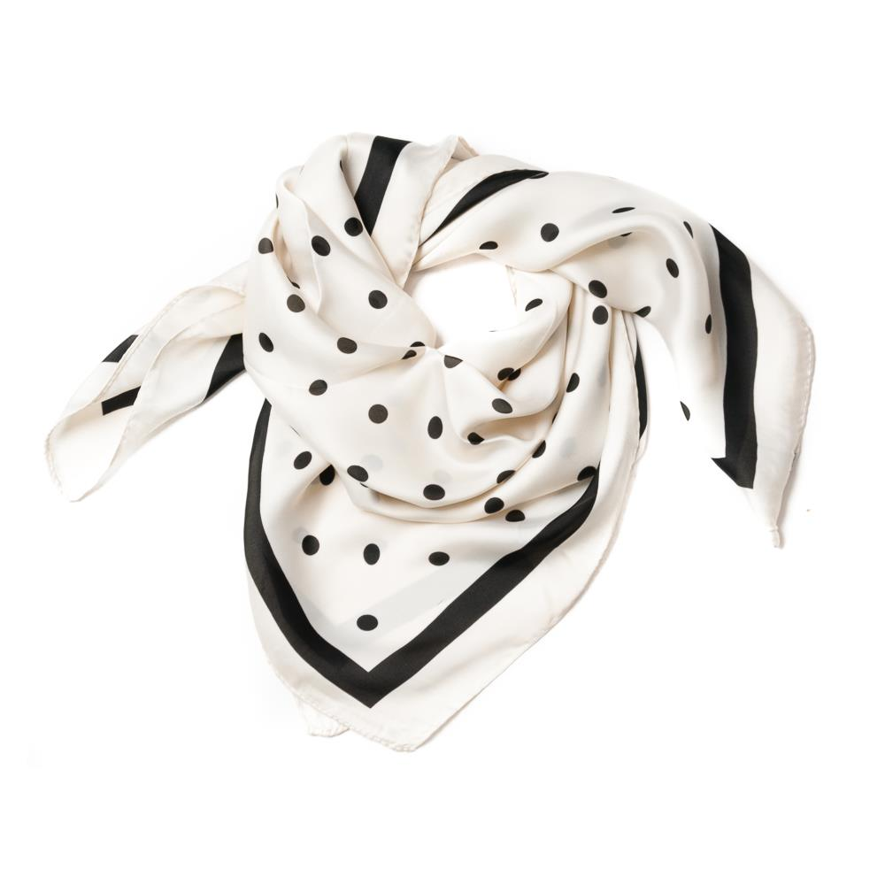 Scarf , small with dots white