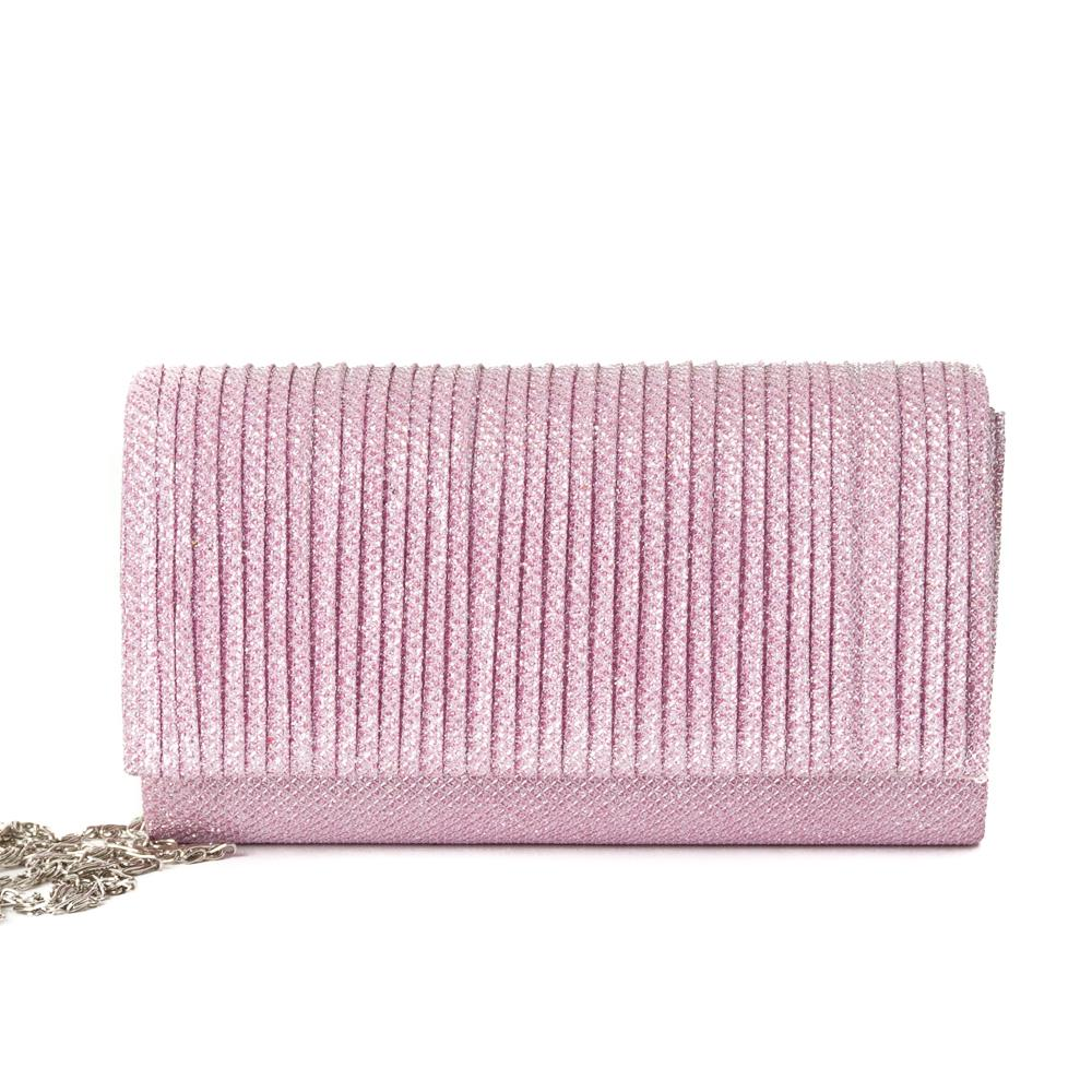 Veske glitterclutch Dusty Pink
