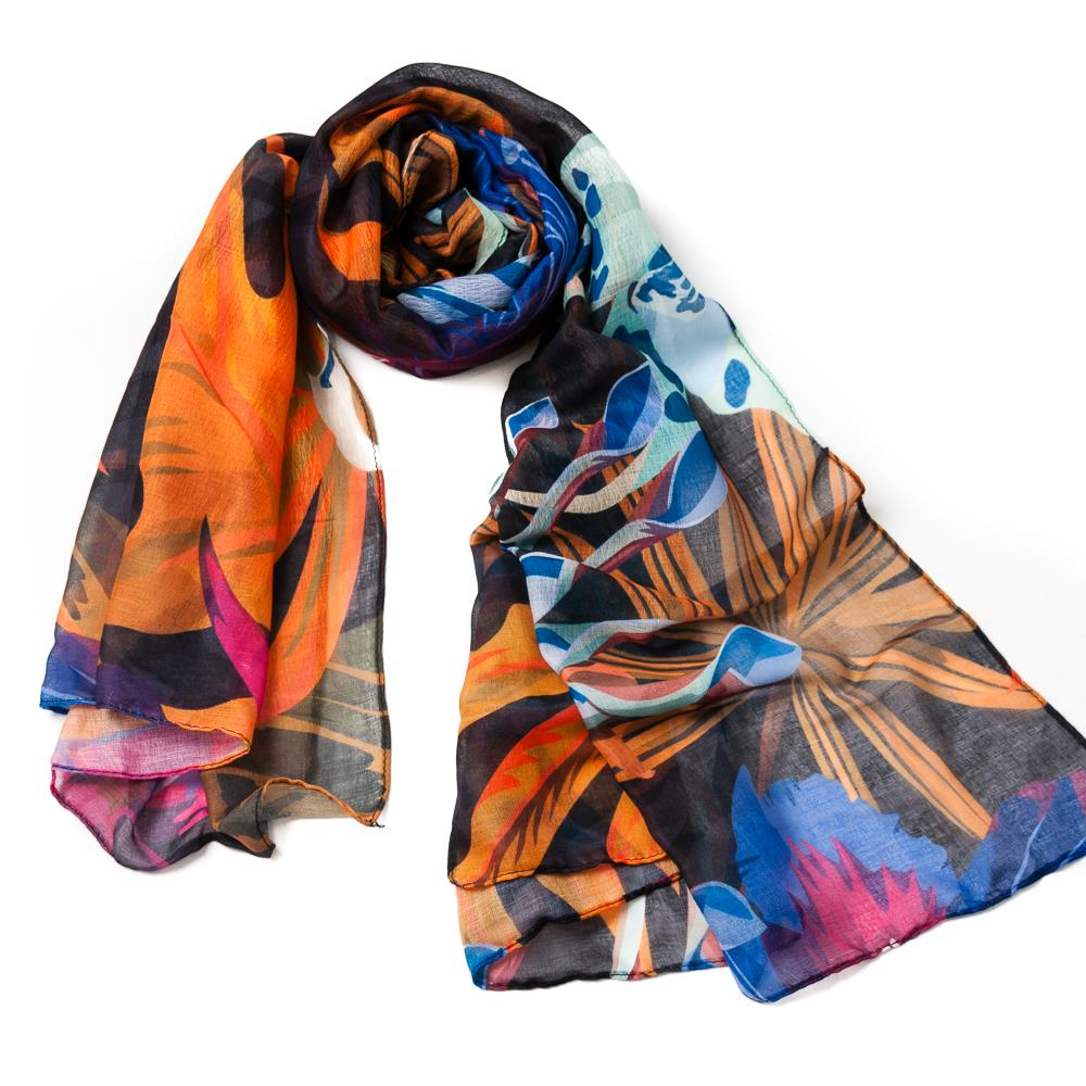 Scarf, autumn colors purple