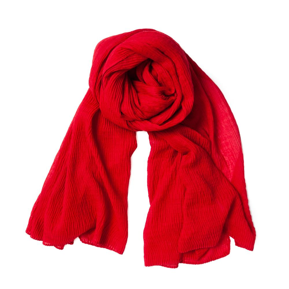 Scarf, viscose mix red
