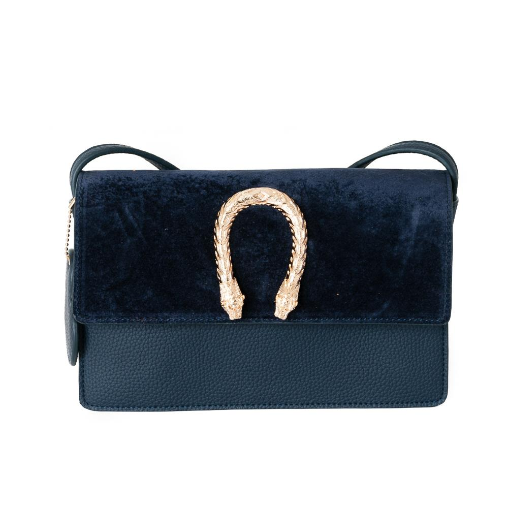 Bag, snake buckle clutch navy
