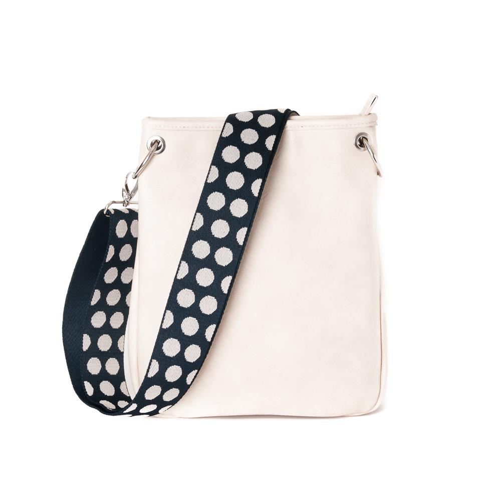 Bag, Darma small crossbag with ribbon offwhite