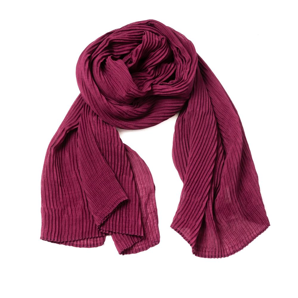 Scarf, exclusive plizze bordeaux