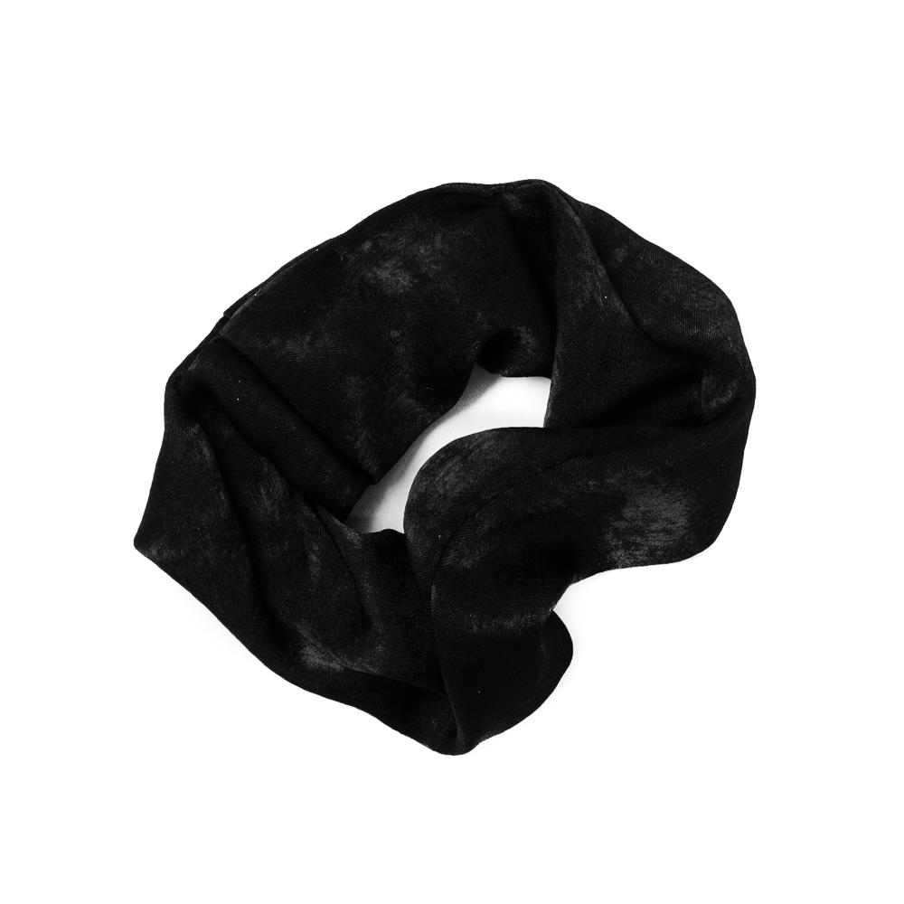 Elastic hairband, Satin solid color black
