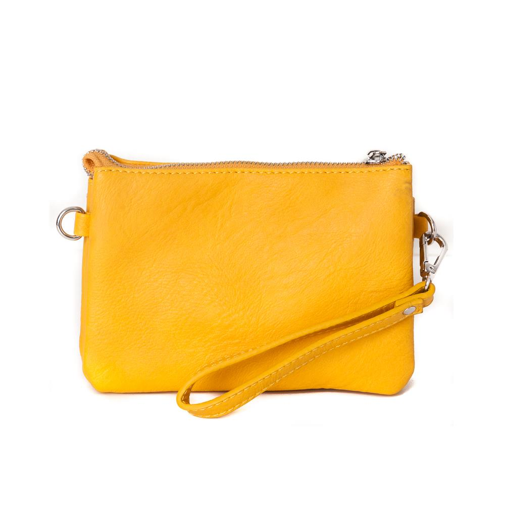 Bag, Anna zipper purse yellow
