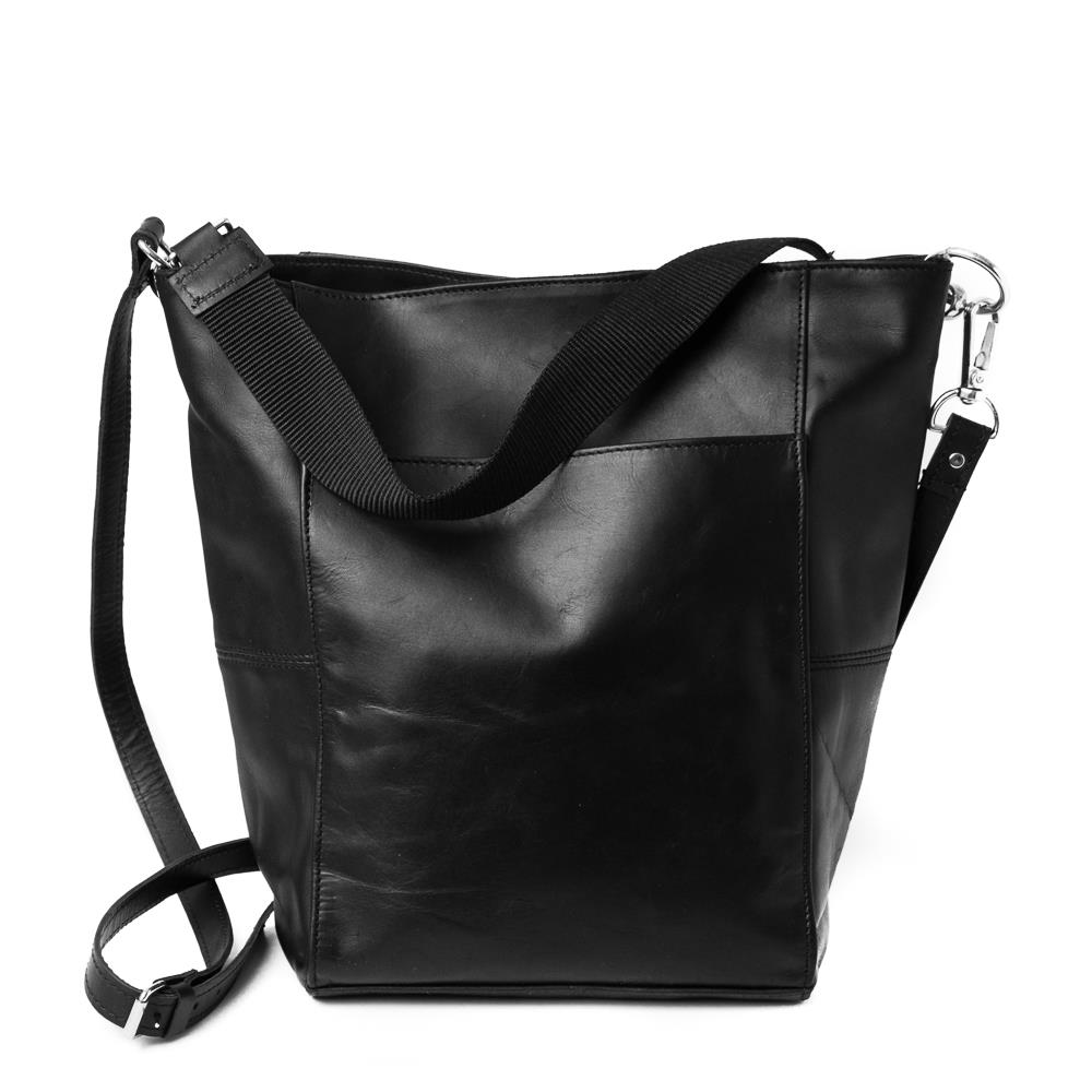 Bag, leather small crossbag black
