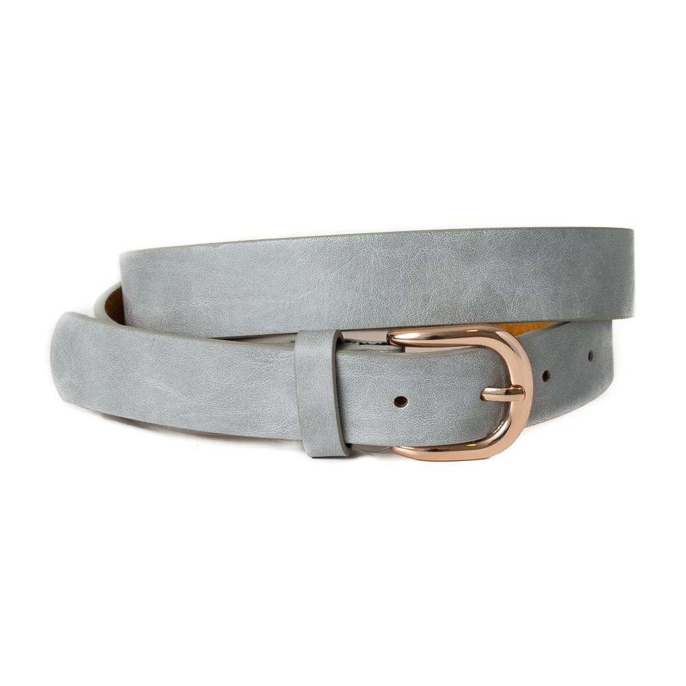 Belt, Plain with gold buckle Lt grey