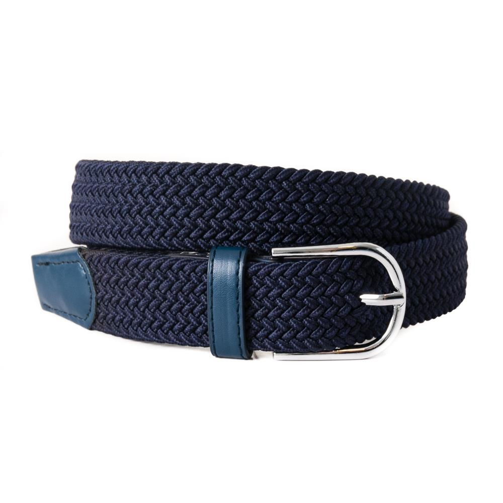 Belt, elastic braided navy
