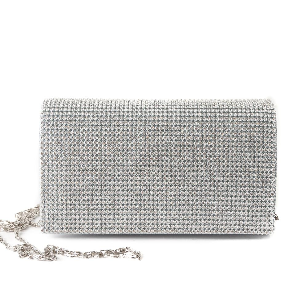 Bag crystalclutch grey