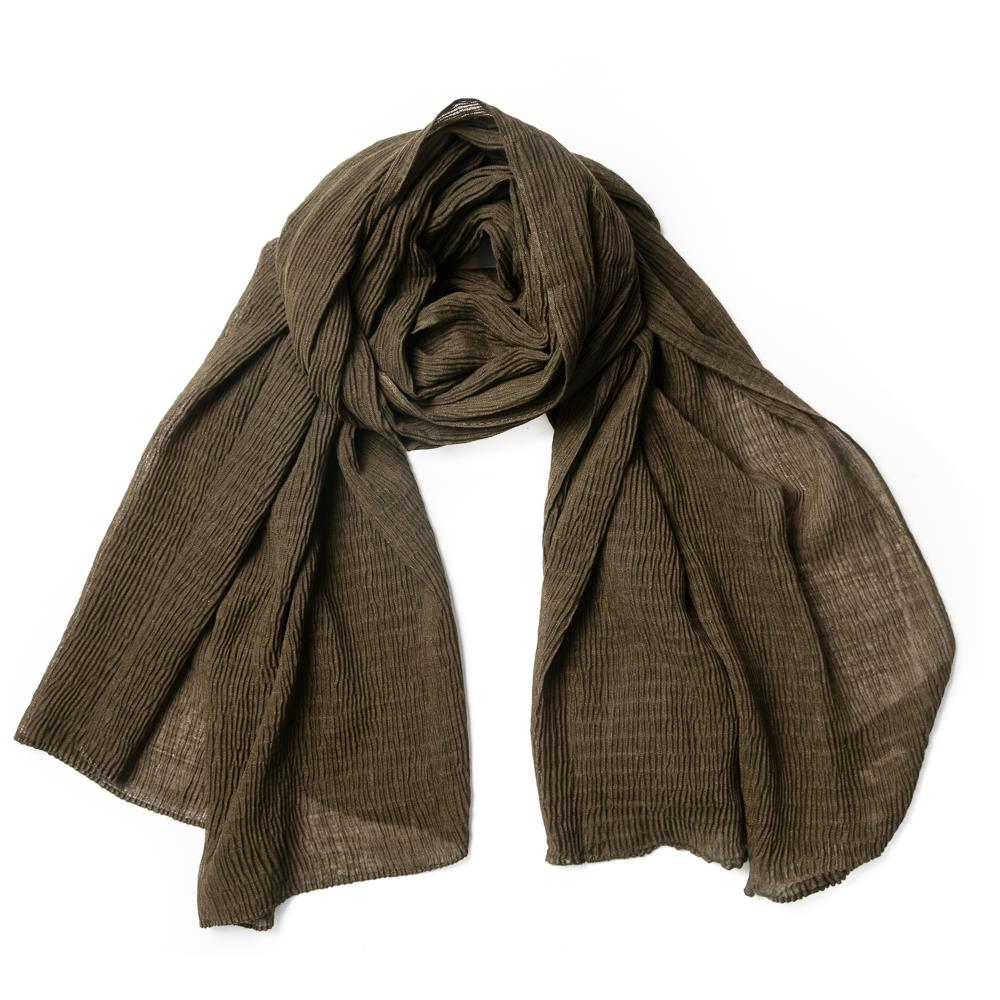Scarf, viscose mix Army  green