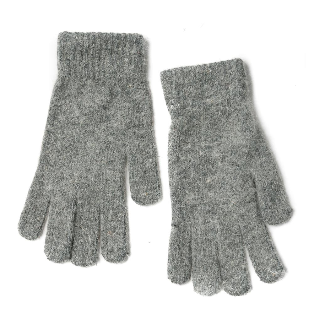 Gloves, Knitted Gloves Grey Melange