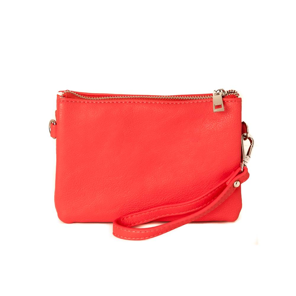 Bag, Anna zipper purse coral
