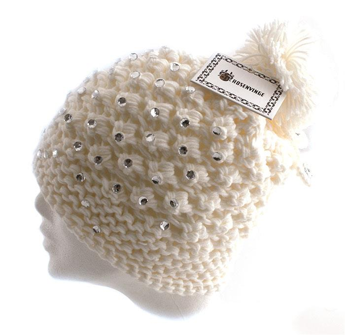 Hat knitted w stones