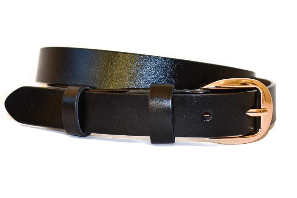 Belte PU/skinn gold colored buckle black