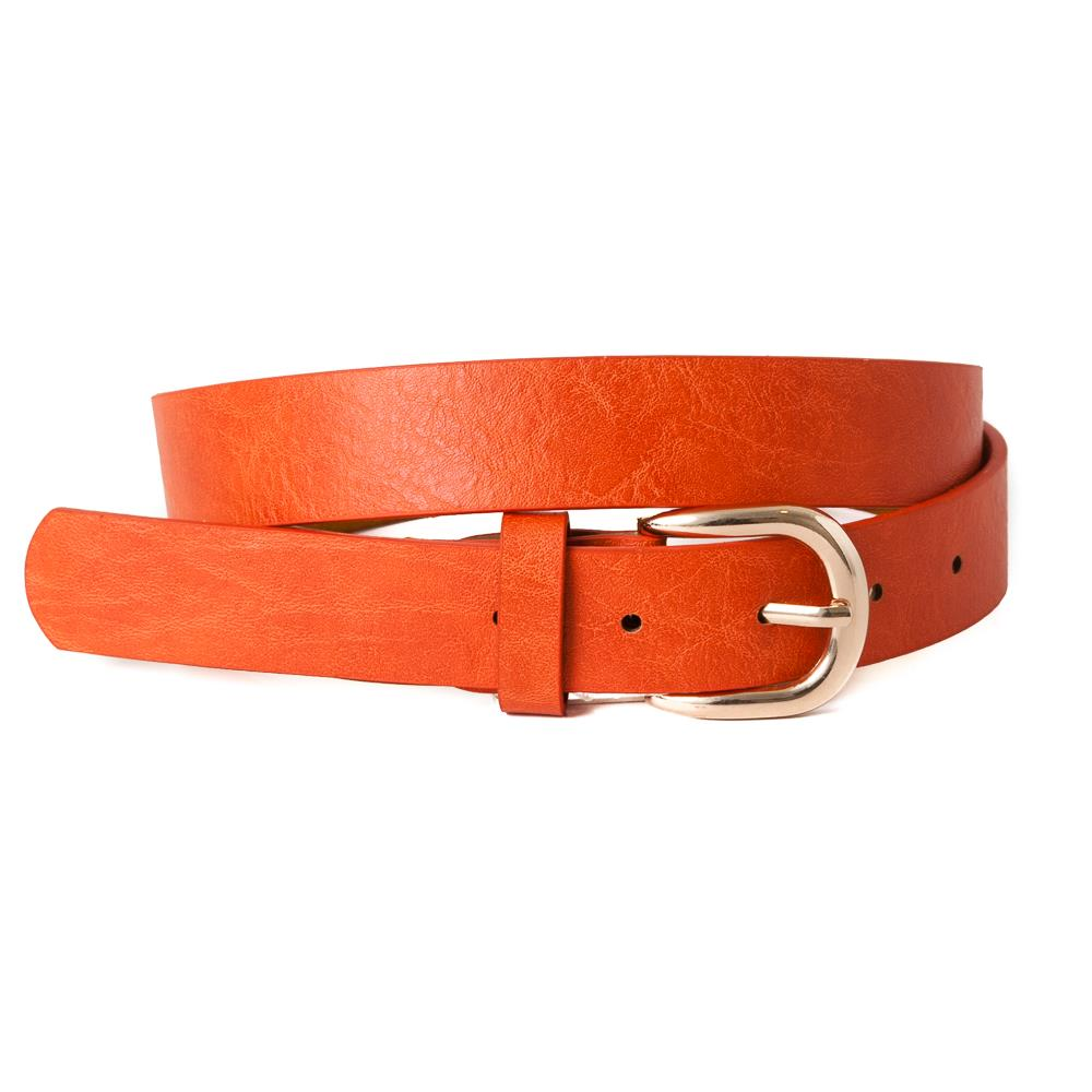 Belt, Plain with gold buckle Orange
