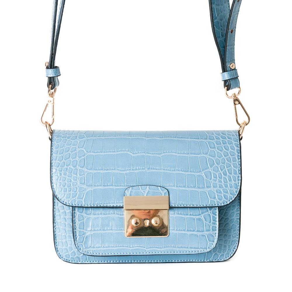 Bag, croco clutch lt.blue
