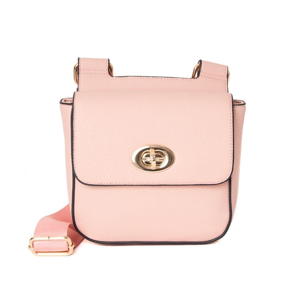 Bag, Daisy clutch lt pink