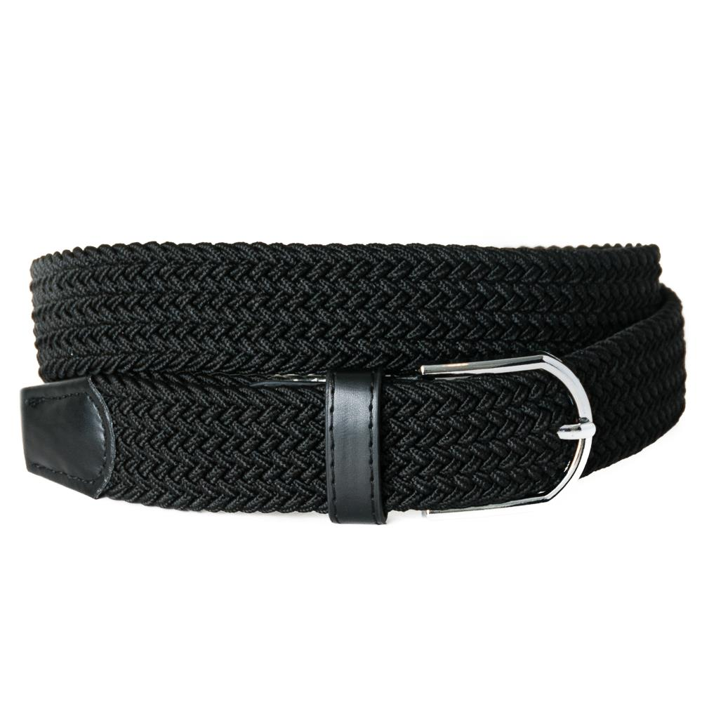 Belt, elastic braided black