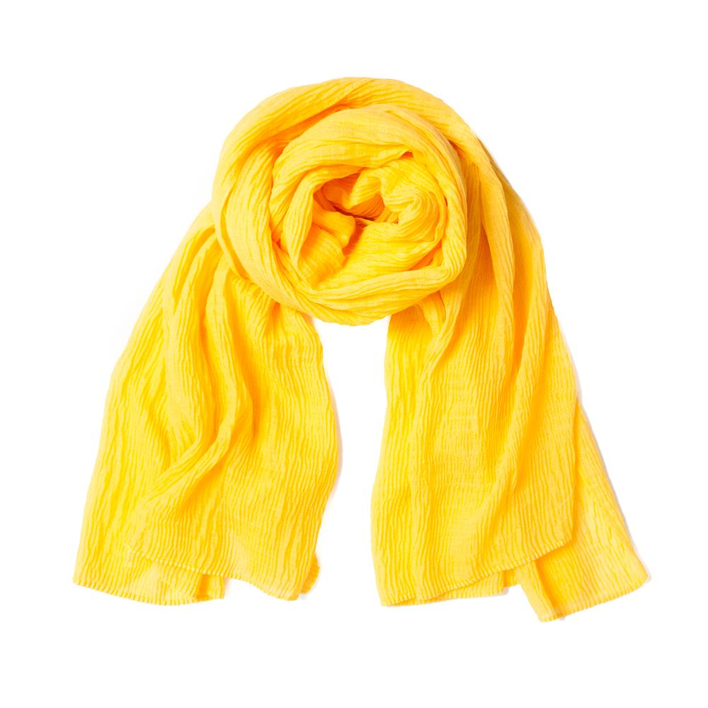 Scarf, viscose mix yellow