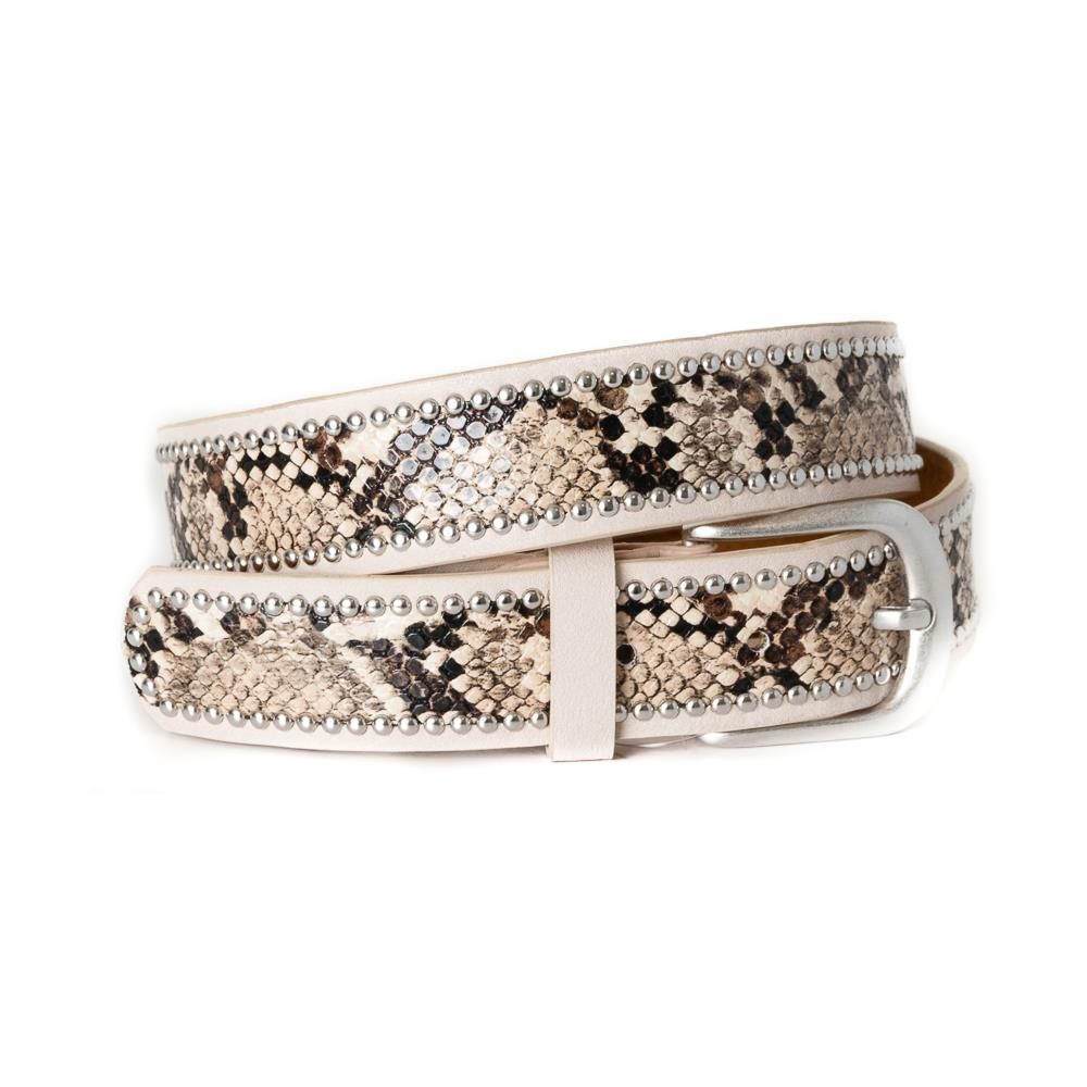 Belt, Snake pattern with rivets dusty pink