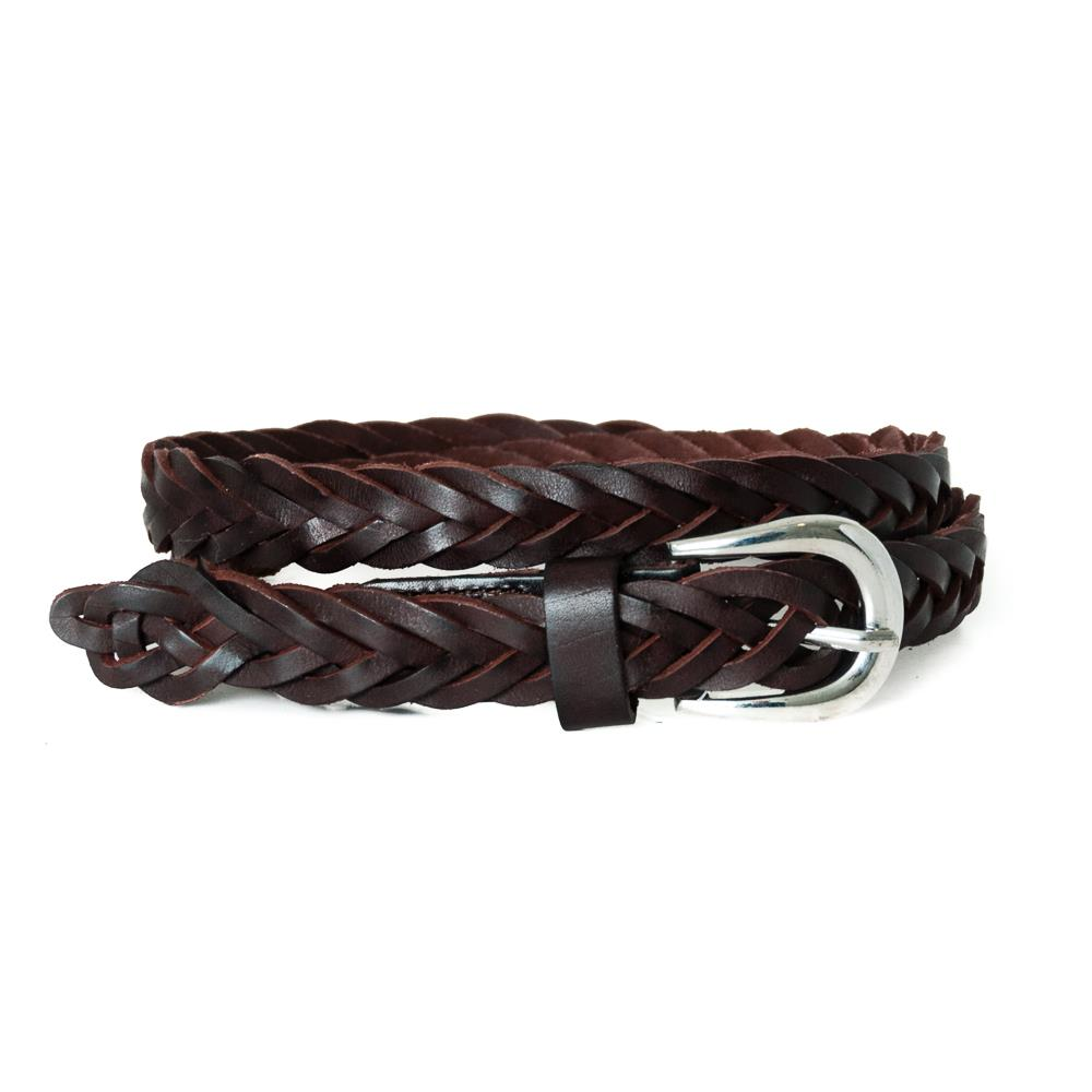 Belt, braided small leather