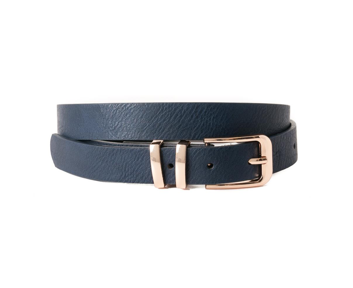 Belt, plain with double loop Gold