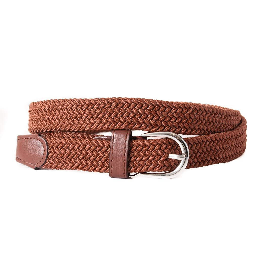 Belt, small elastic cognac