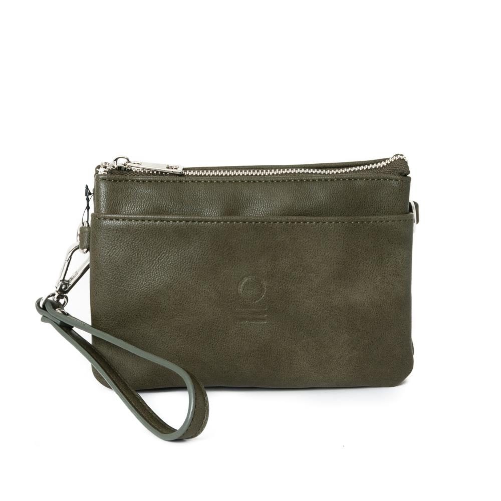Bag, zipper pocket purse army green