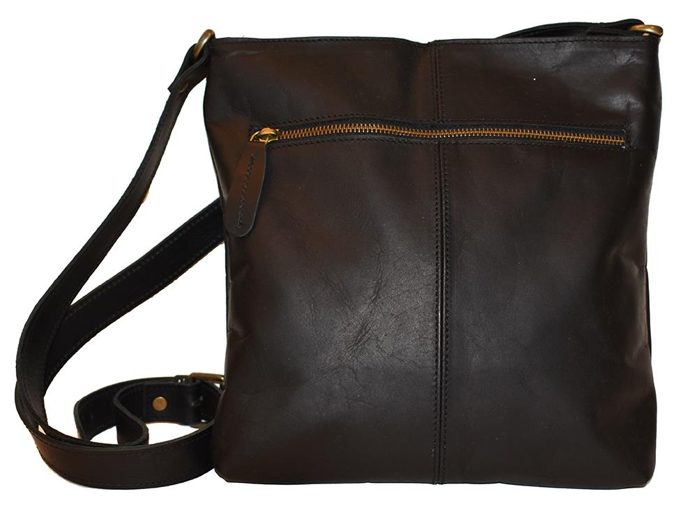 Bag, Leather bag with zipper