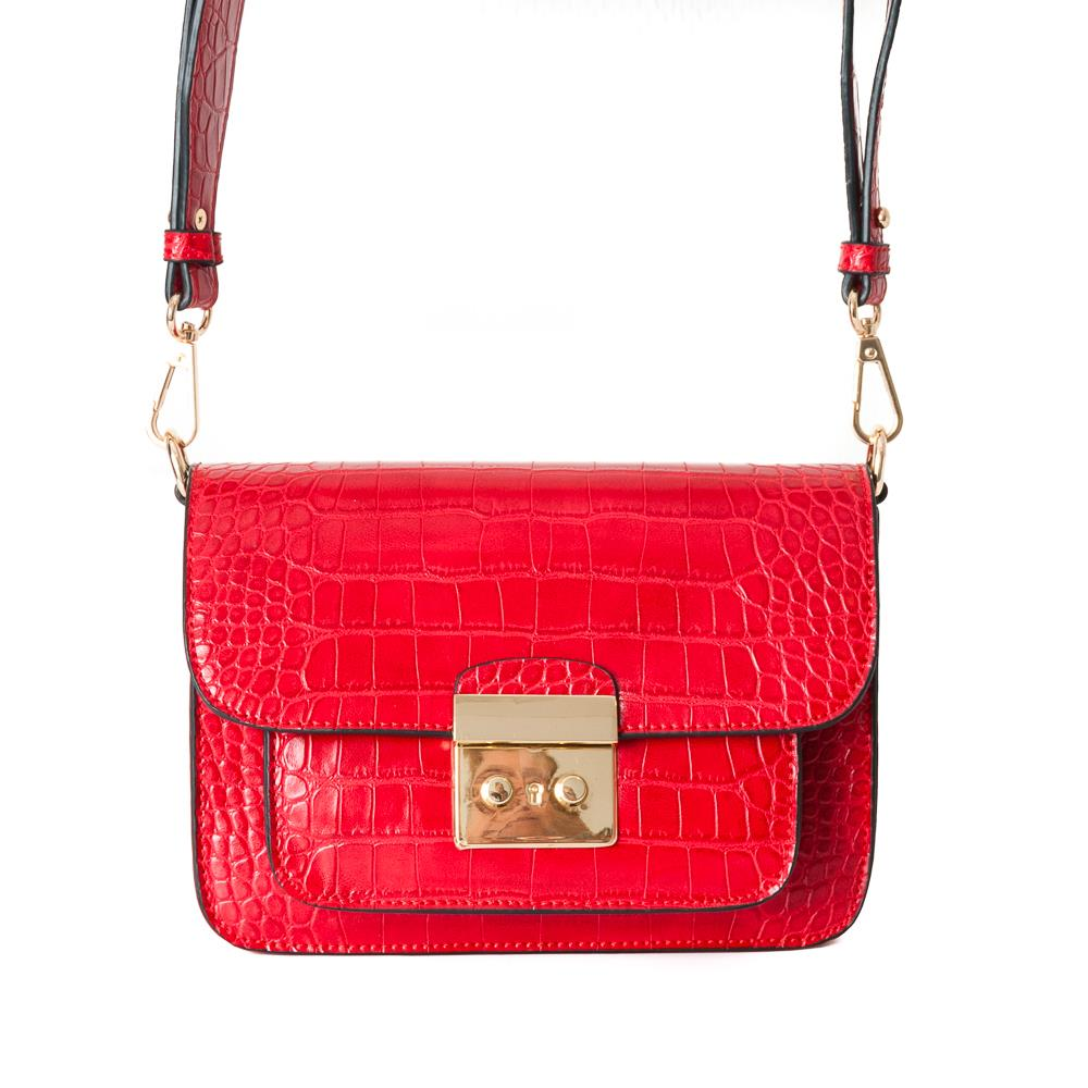 Bag, croco clutch red