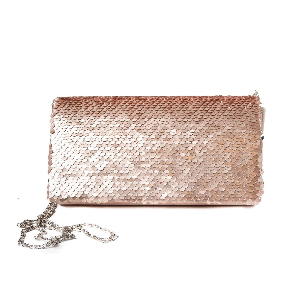 Bag, Partybag big sequinces dusty pink
