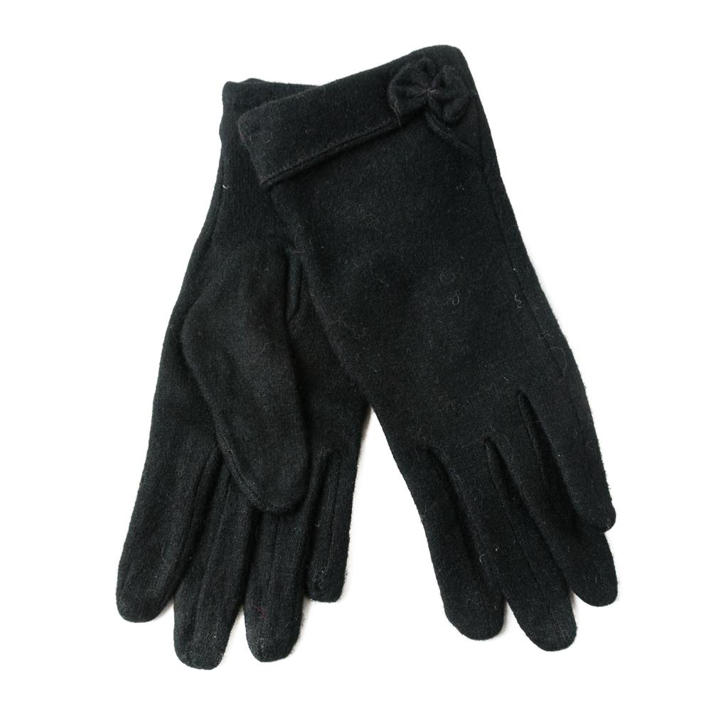 Gloves, wool with bowtie