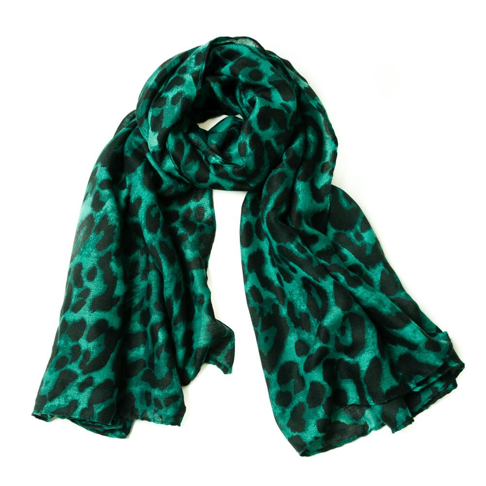 Scarf, Animalprinted Green