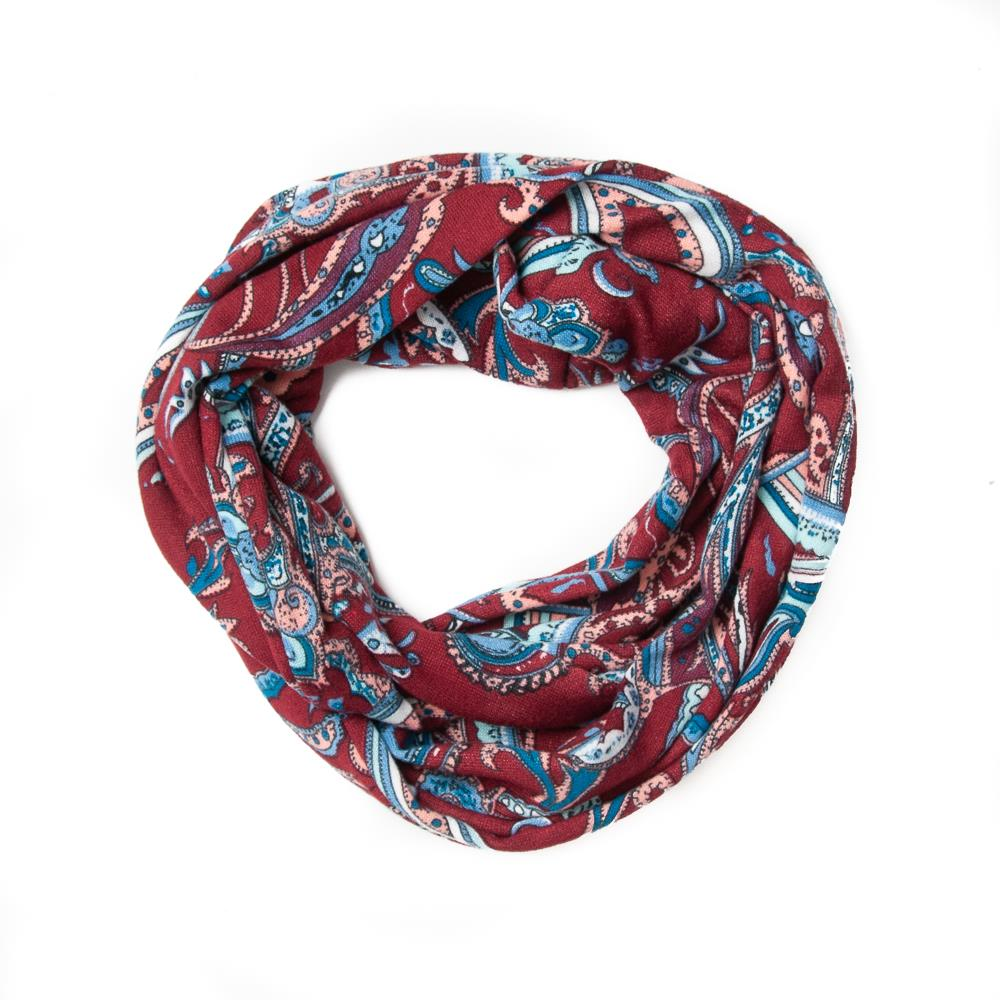 Scarf, jersey tube bordeaux