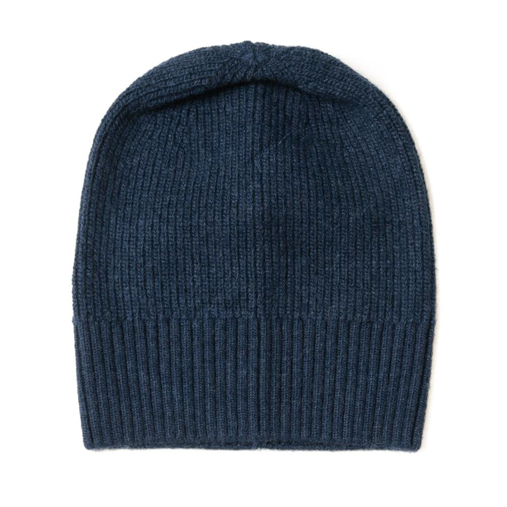 Hat, knitted wool plain navy